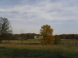 Capitol columns and tree in distance