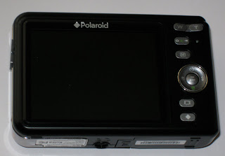 rear of the Polaroid i1035 compact digital camera