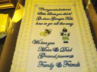 Louis' congratulations cake