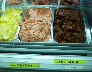 gelato display at Aromi d'Italia