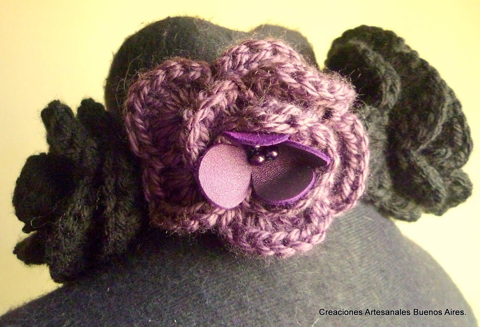 cuellos de flores tejidas al crochet