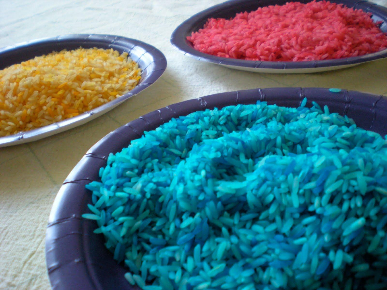 Как сделать разноцветный рис