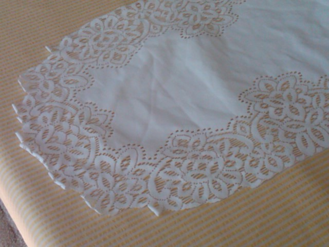 Table 16 Floral Sale: Edge  Bride Runner runner Lace  and Garage Vintage  Groom x table 72