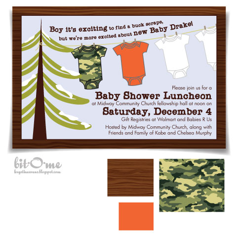 bit o me hunting themed baby shower the invitation