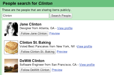 People search example