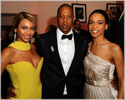 beyonce+jay+z+michelle+williams Beyonce, Jay Z & Michelle At Sony BMG Party