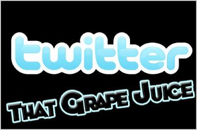 Follow That Grape Juice On Twitter!