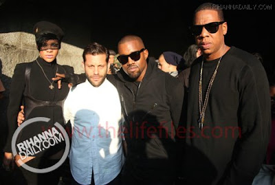 ri3 Jay Z, Rihanna & Kanye West On The Set Of Run This Town Video