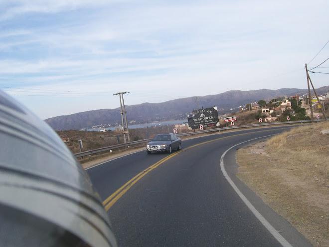 Vista del lago desde ruta