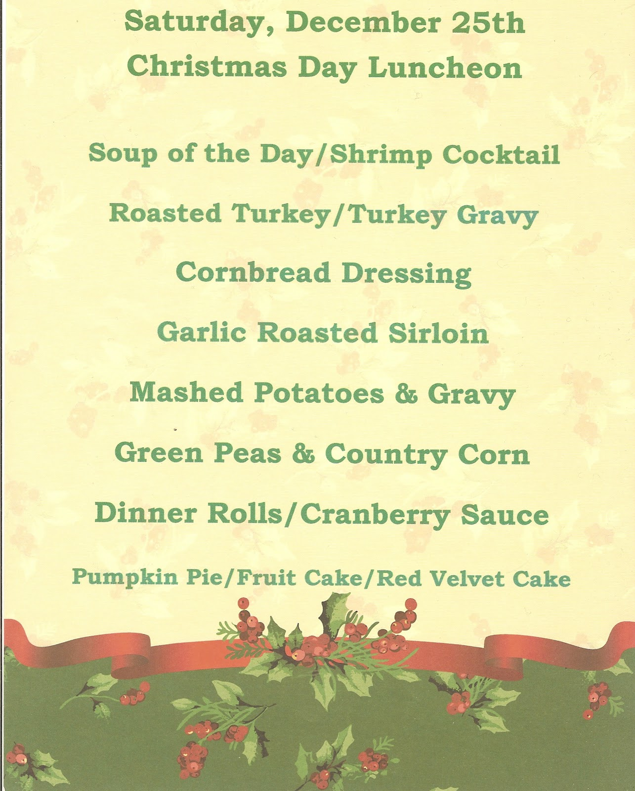 Christmas dinner quotes quotesgram for Southern christmas dinner menu ideas