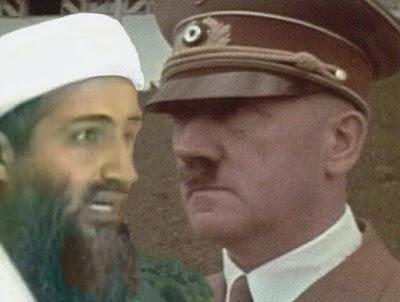 osama bin laden and hitler. in laden and hitler. Osama