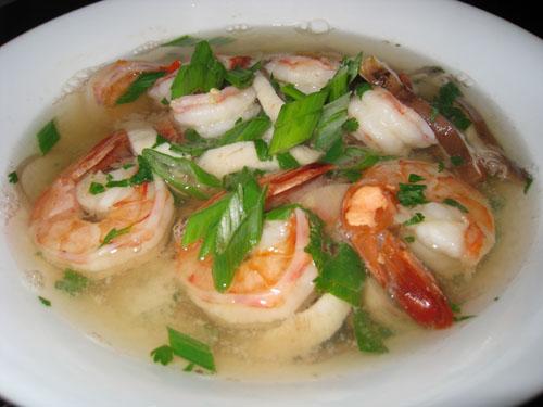 Shrimp Thai Hot-and-Sour Soup Recipe