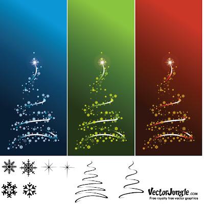 Vectores navideños: vectores de árboles de Navidad
