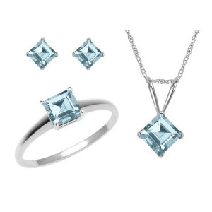 aquamarine briolette earrings white gold