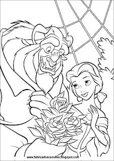 fábrica dos convites desenhos para colorir da bela e a fera