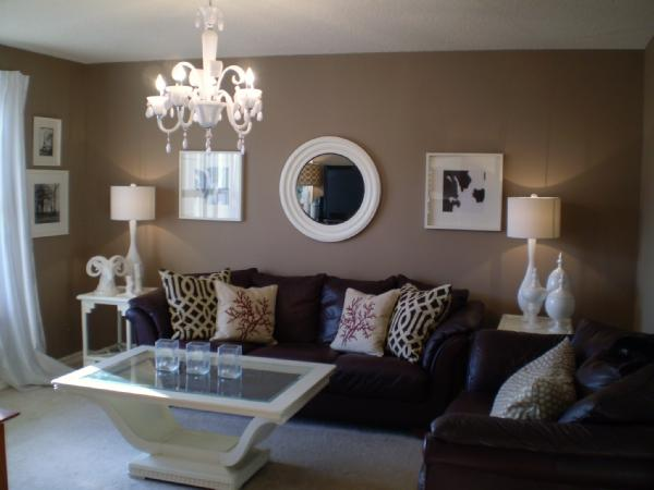 The green room interiors chattanooga tn interior for Black and brown living room designs
