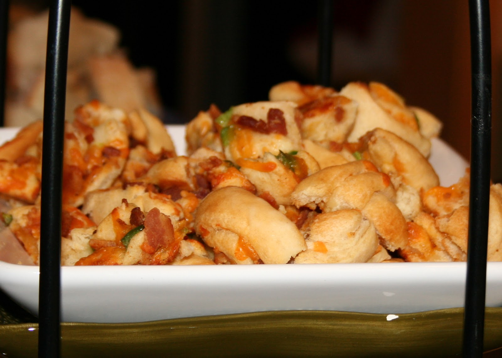 The Hungry Housewives: Christmas- Poker Night Bacon Cheddar Pinwheels