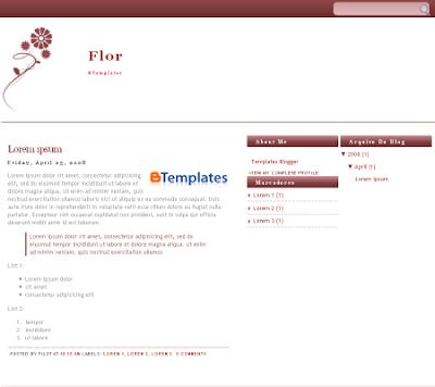 Flor blogger template