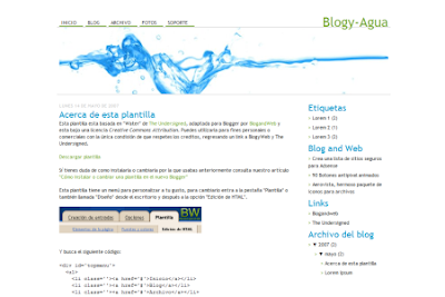 Aqua blogger template