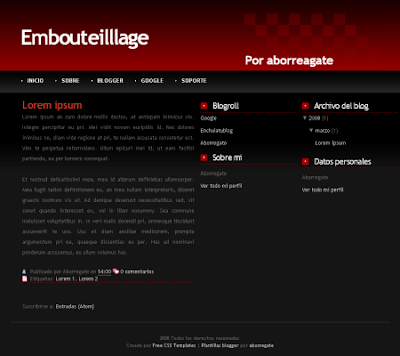 emboutillage blogger template
