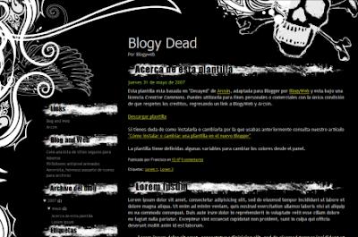 Dead blogger template