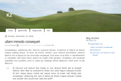 K2 blogger template