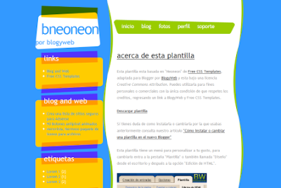 Neoneon blogger template