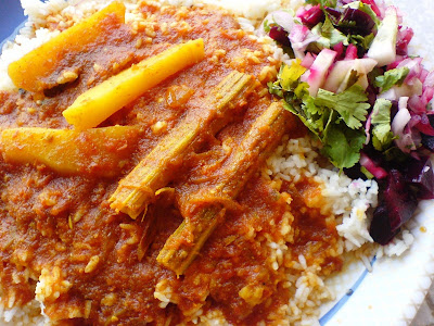 Parsi Ras Chawal Recipe(Spicy Tomato Gravy with Rice)
