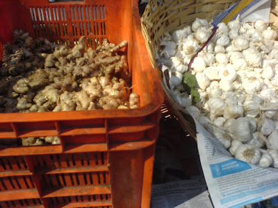 This Week at the Farmer's Market - Ginger and Garlic