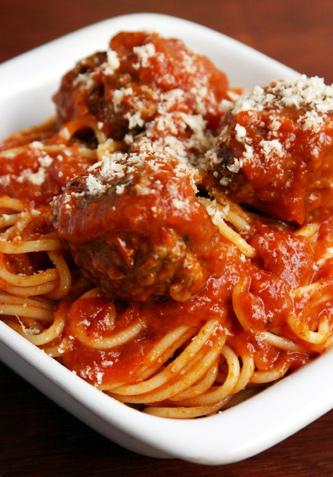 Italian+pasta+and+meatballs