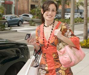 Дама после шоппинга