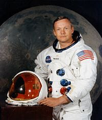 Neil Armstrong, first men in The Moon.