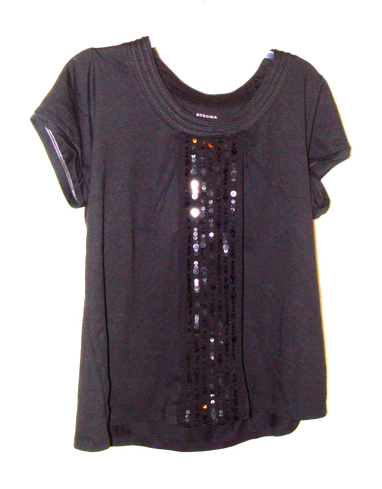 Black t shirts kohls - Sewing With Sequins Is On My Mind Now If Only Kohl S Had A Bunch Of Clearance Scarves Left