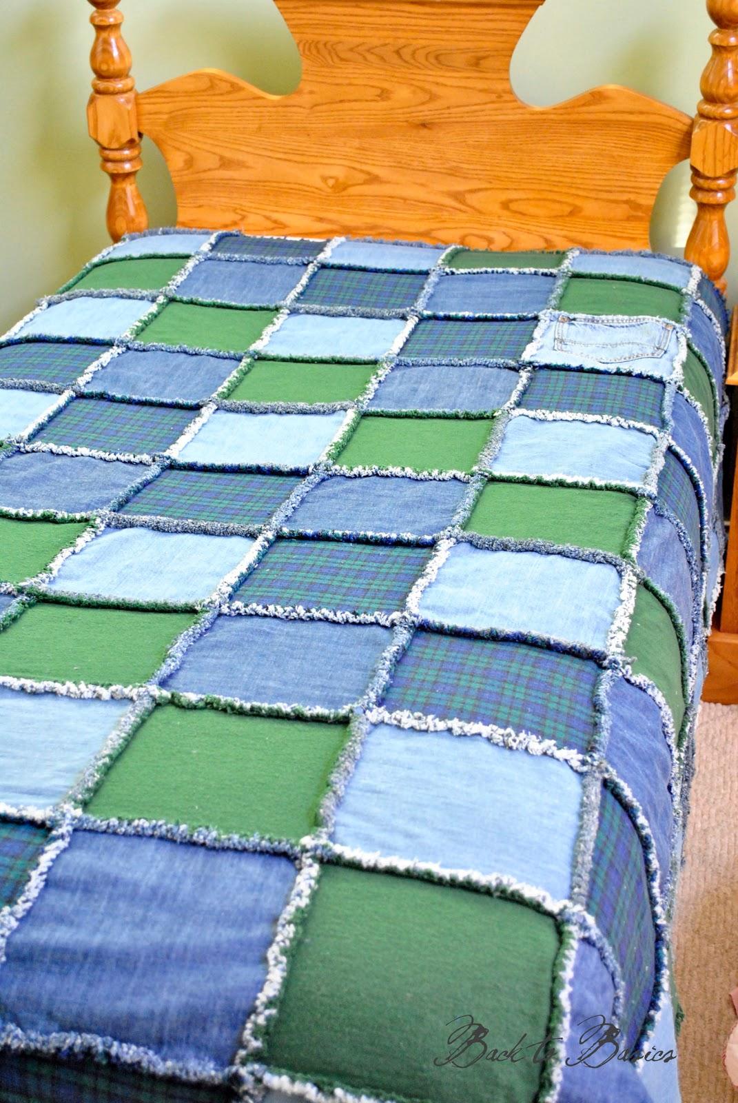 Покрывало на кровать своими руками джинс