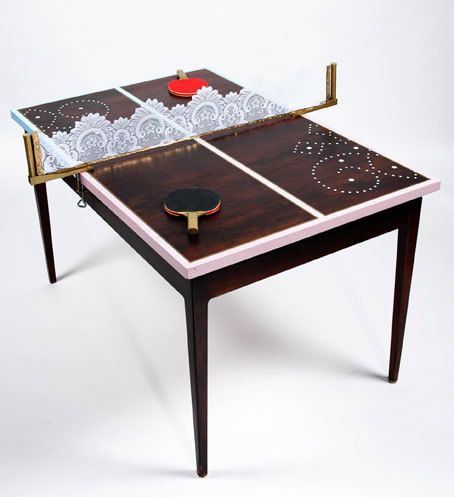 Decorator in a box dining room to ping pong room for Table ping pong