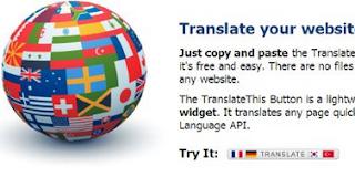 Blog'uğunuzu Translate This ile farklı dillerde görüntüleyin