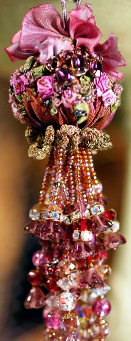 Beaded Tassel with Ribbonwork