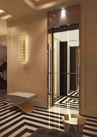 Elevator Black And White Jacques Grange Interiors