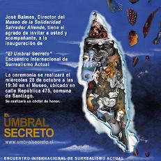 Exposición Internacional del Surrealismo Actual- Invitación Museo Salvador Allende.