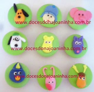 cupcakes decorados discovery kids pocoyo Elly pato  Doki Backyardigans