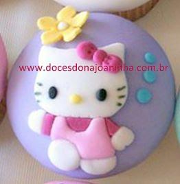 Hello Kitty Bolos pirulitos e cupcakes para lembrancinha festa infantil Hello Kitty