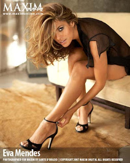 Eva Mendes maxim's november issue