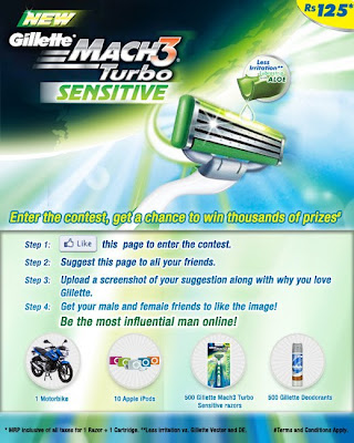 Win Motor Bike & Thousands Of Other Prizes From Gillette