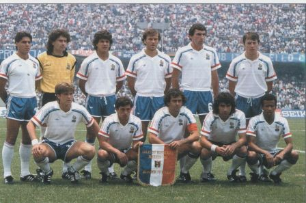 Football retro equipe de france coupe du monde 1986 au mexique - Coupe du monde france allemagne 1982 ...