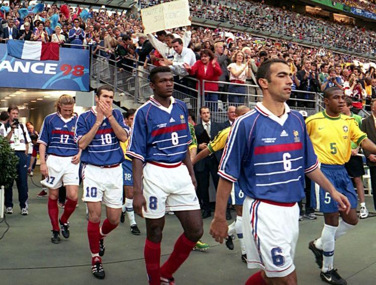 Football retro equipe de france coupe du monde 1998 - Joueur coupe du monde 98 ...