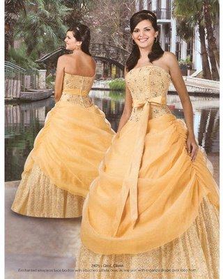 vestidos de 15 aos dorados. Foto de Vestido de 15 Años
