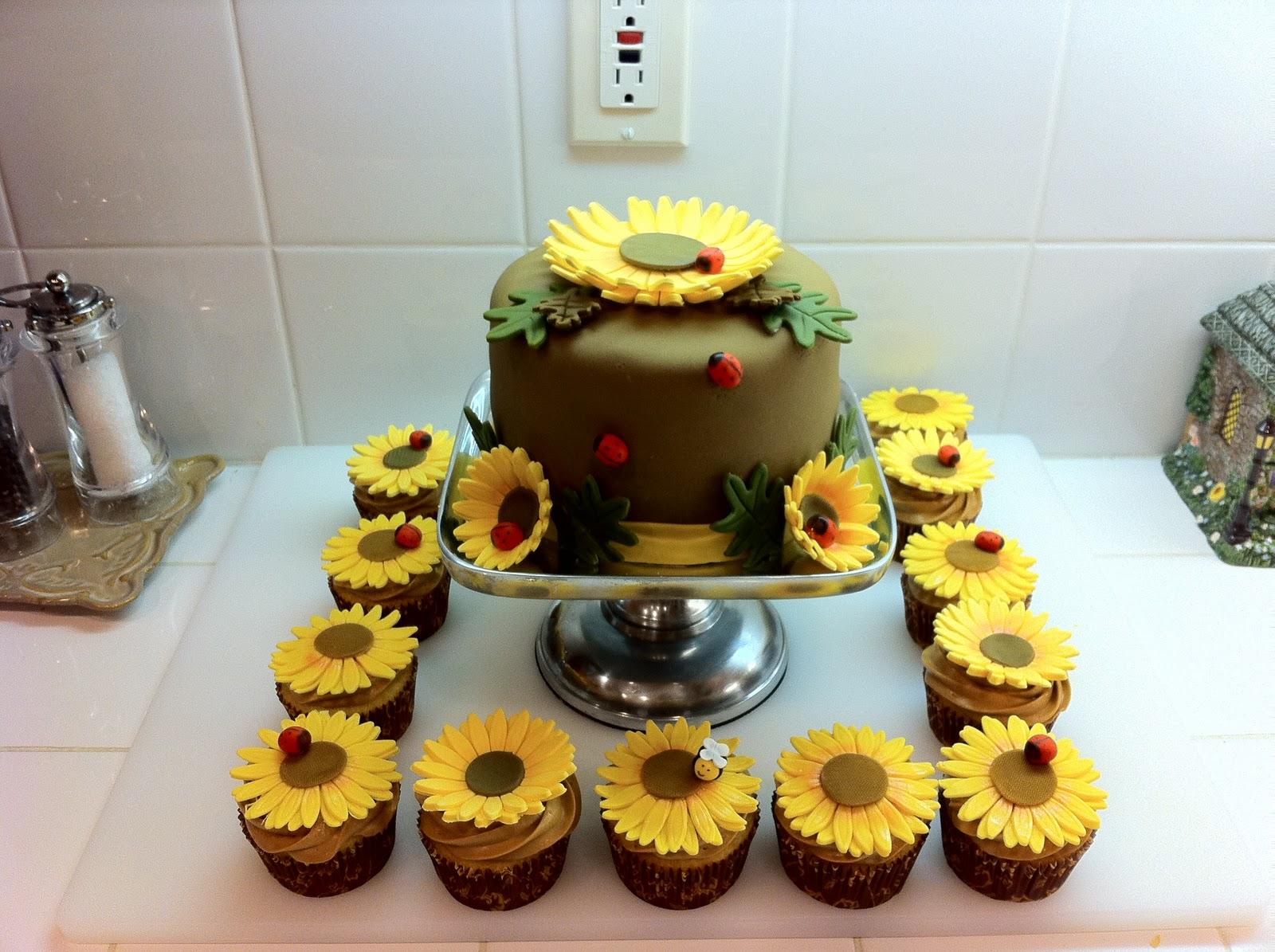 Sunflower Wedding Cupcakes Viewing Gallery