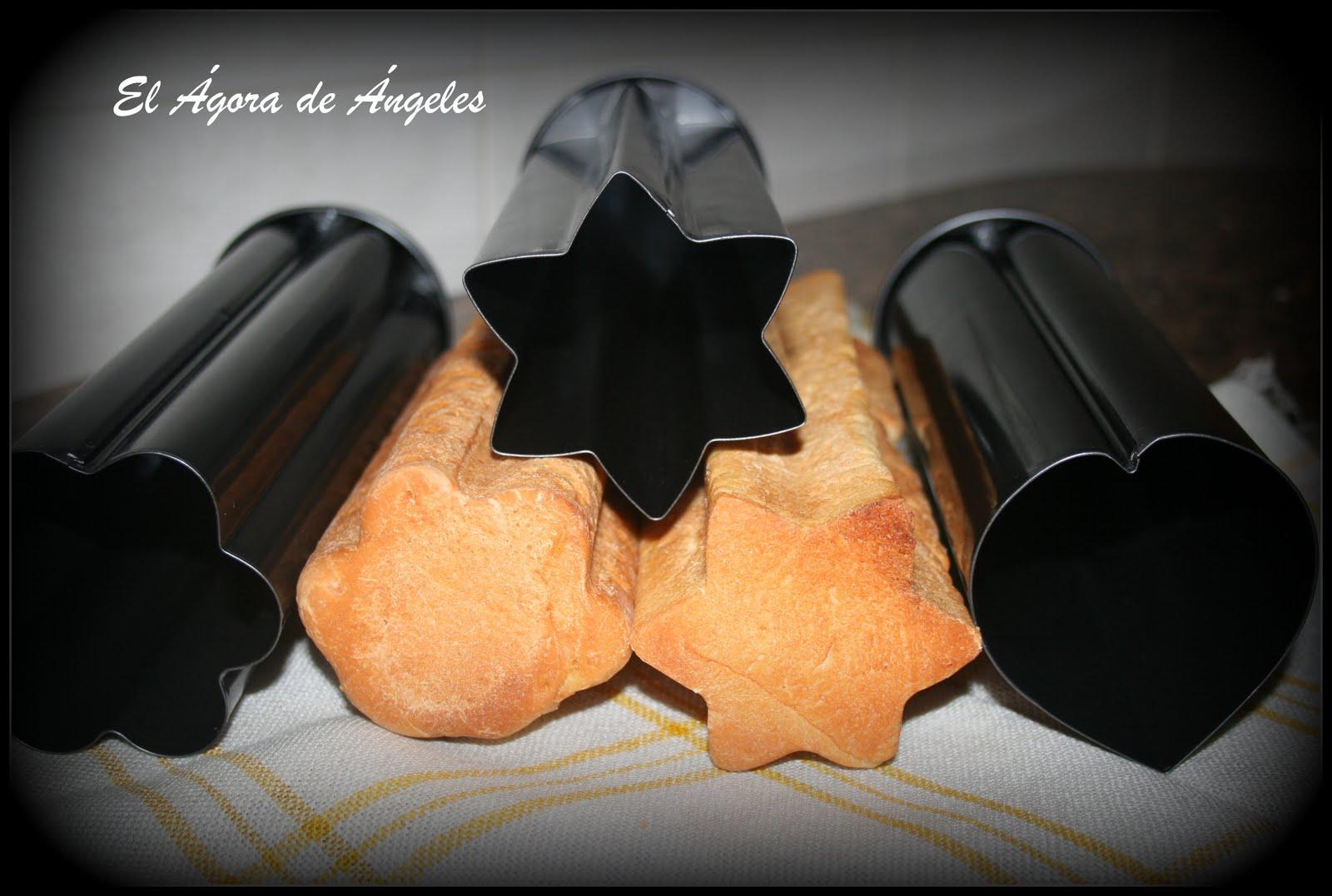 Pan para canap s en moldes de formas pan pinterest for 3 piece canape bread molds