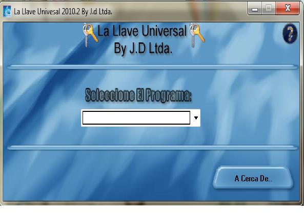 La llave universal consige todo tipo de seriales LlaveUniversal