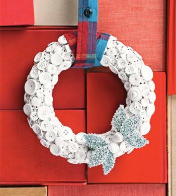 button wreath 350 Karácsonyi koszorú különlegességek
